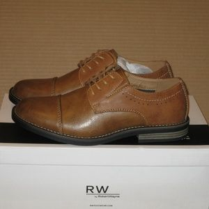Robert Wayne Men's Mik Oxford Shoes Cognac Size 8